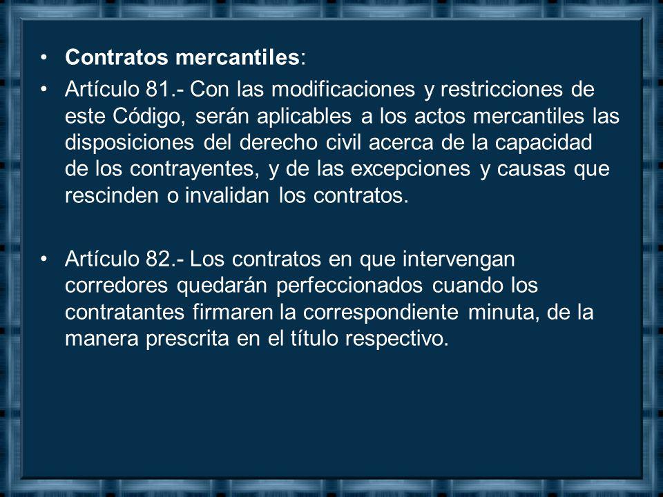 Contratos mercantiles: