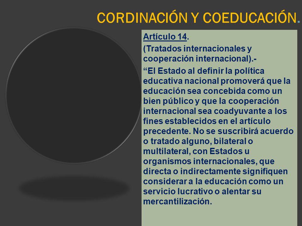 CORDINACIÓN Y COEDUCACIÓN.