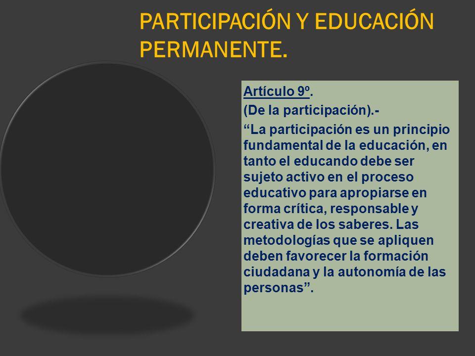 PARTICIPACIÓN Y EDUCACIÓN PERMANENTE.