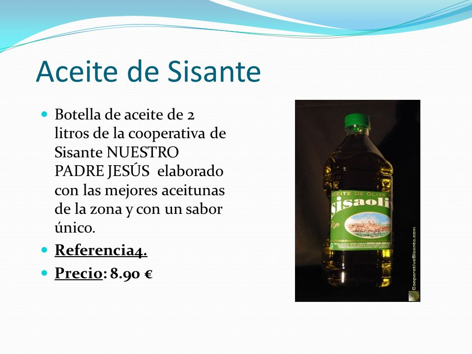 Aceite de Sisante