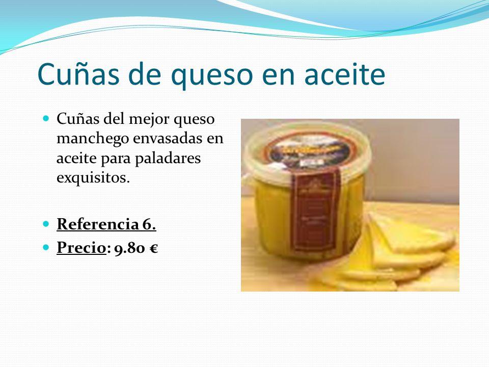 Cuñas de queso en aceite