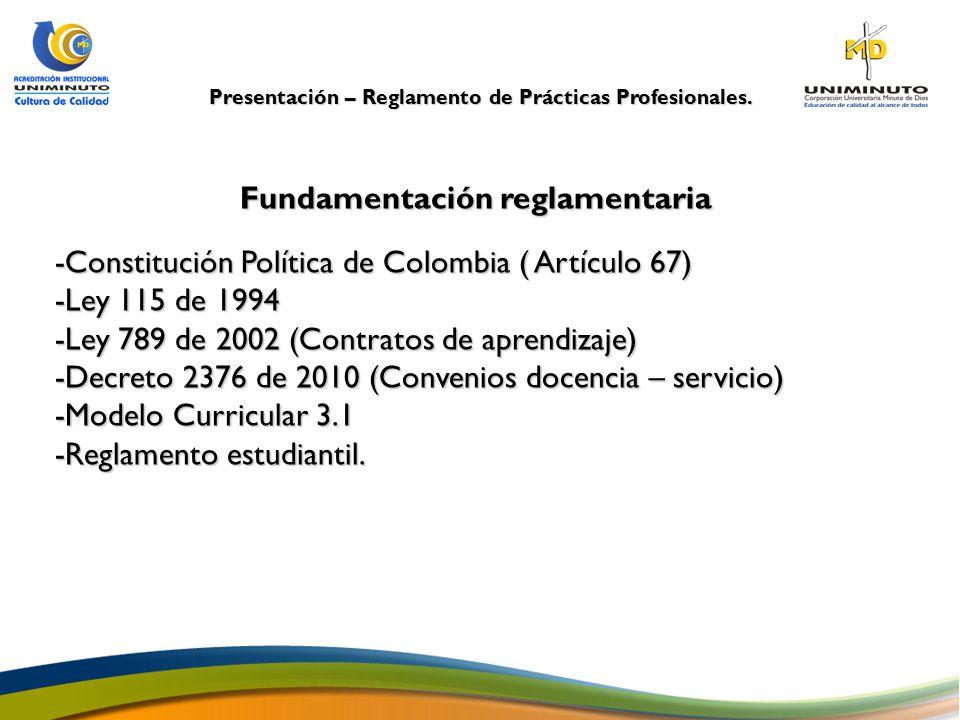 Fundamentación reglamentaria