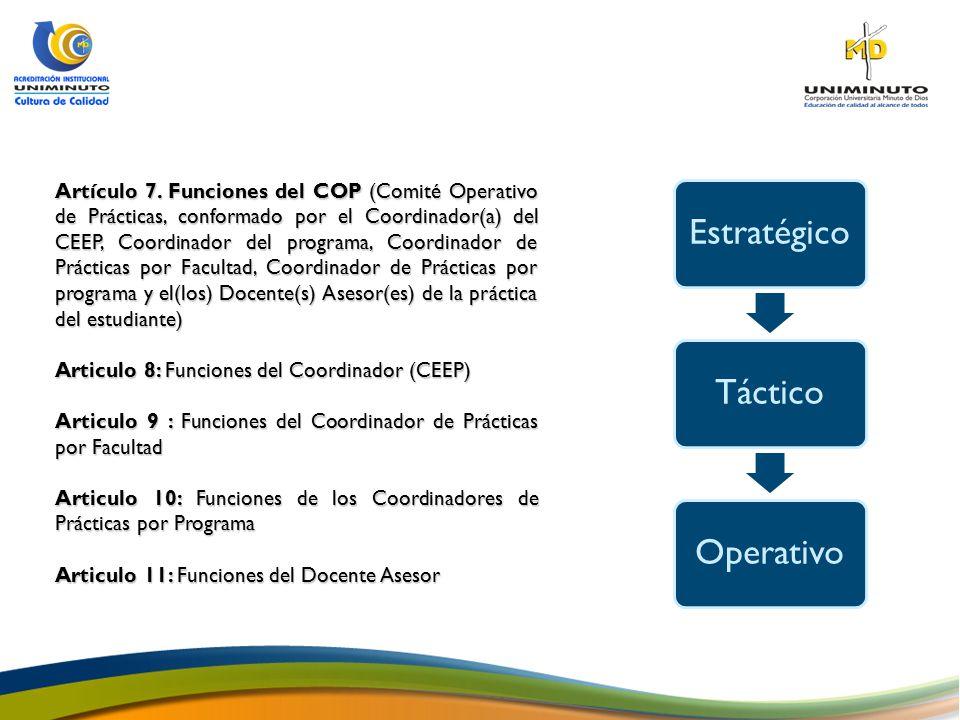 Articulo 8: Funciones del Coordinador (CEEP)