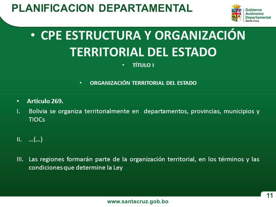 CPE ESTRUCTURA Y ORGANIZACIÓN TERRITORIAL DEL ESTADO