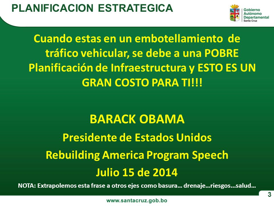 Presidente de Estados Unidos Rebuilding America Program Speech