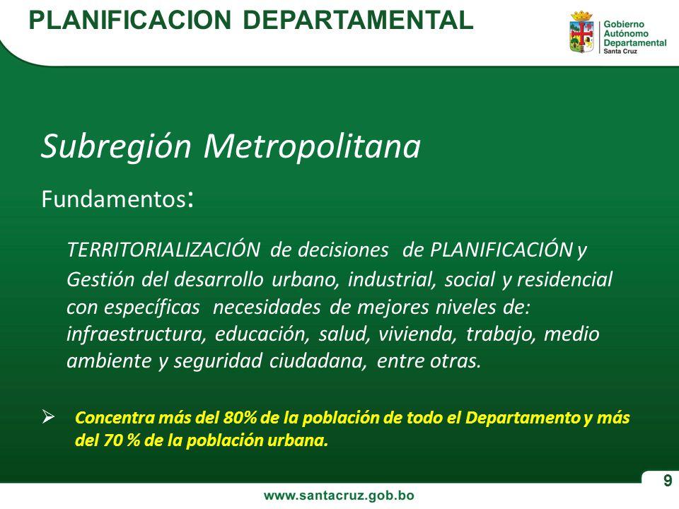 Subregión Metropolitana