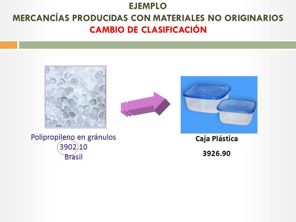 Polipropileno en gránulos 3902.10 Brasil