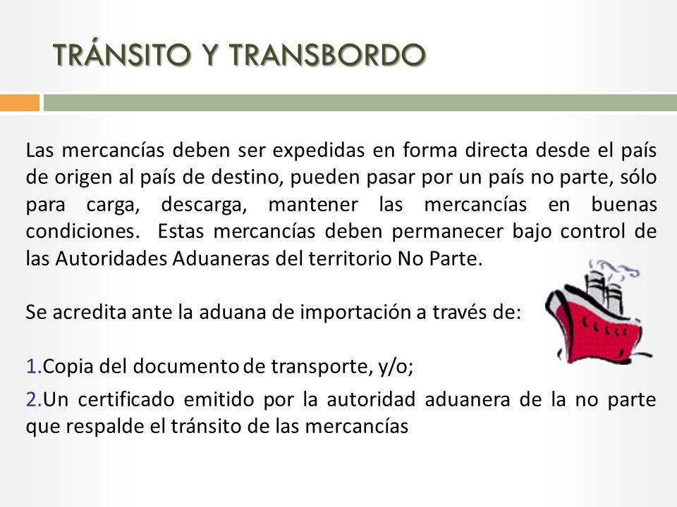 TRÁNSITO Y TRANSBORDO