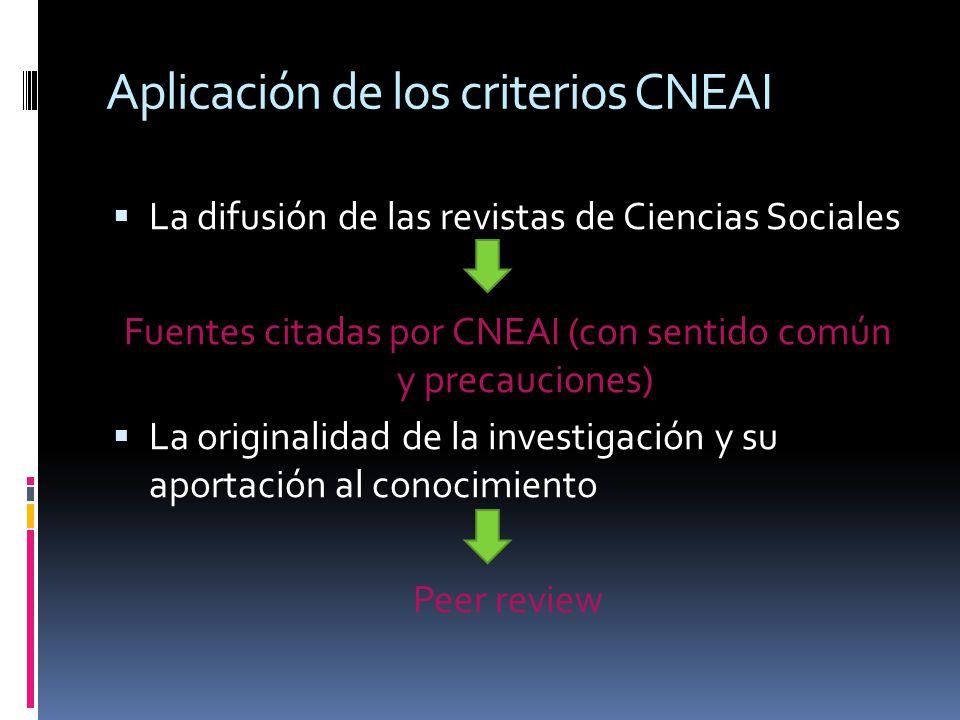 Aplicación de los criterios CNEAI