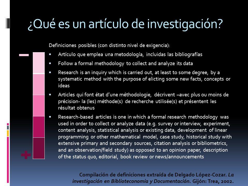 ¿Qué es un artículo de investigación