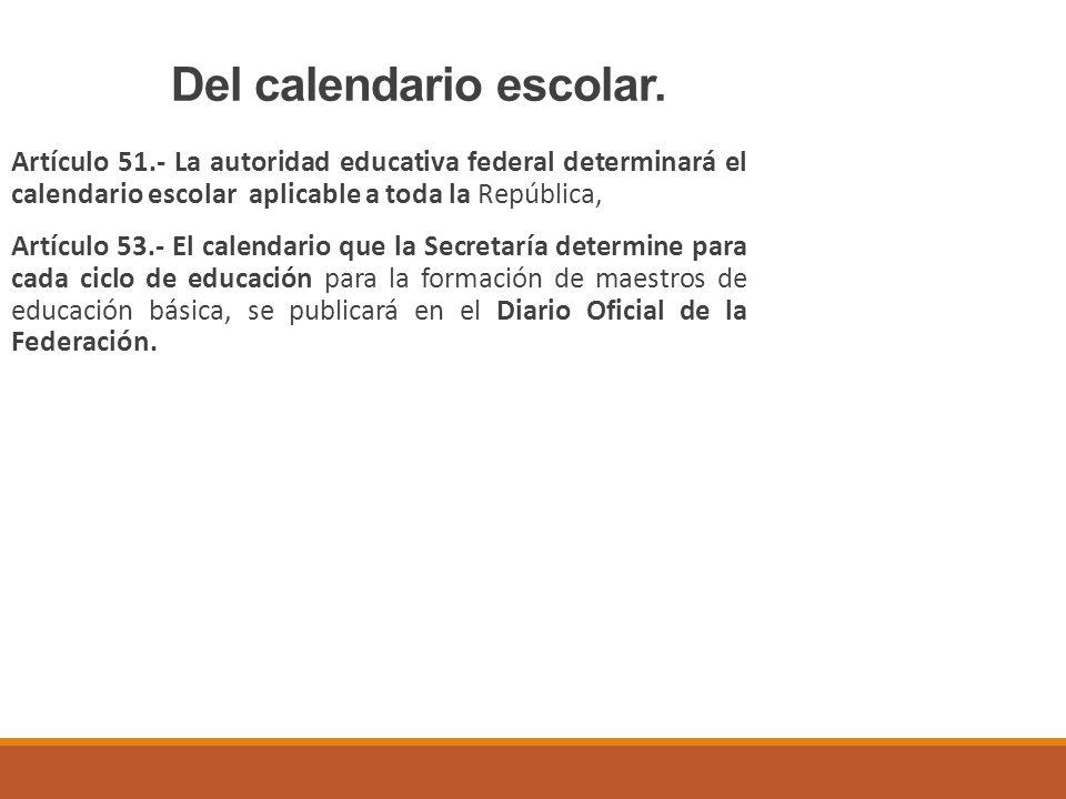 Del calendario escolar.
