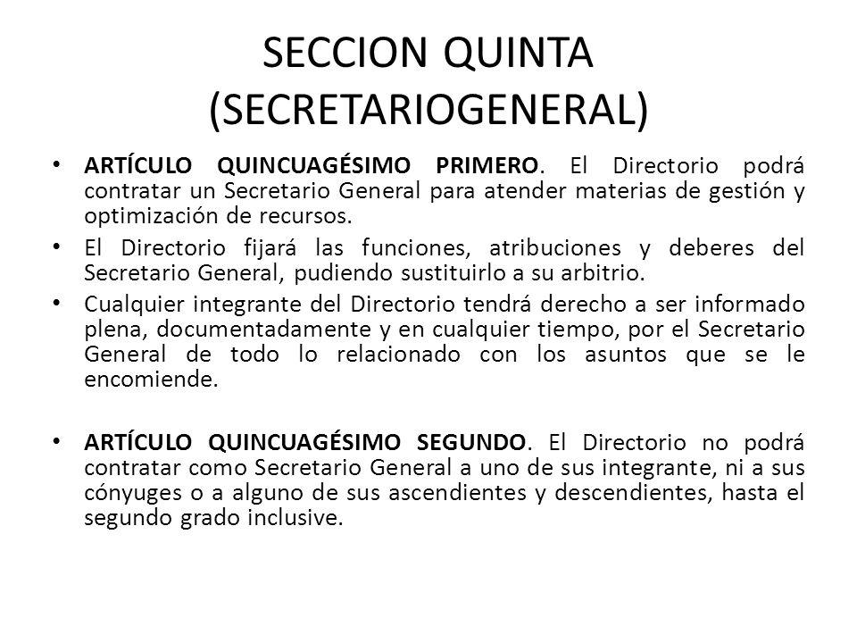 SECCION QUINTA (SECRETARIOGENERAL)