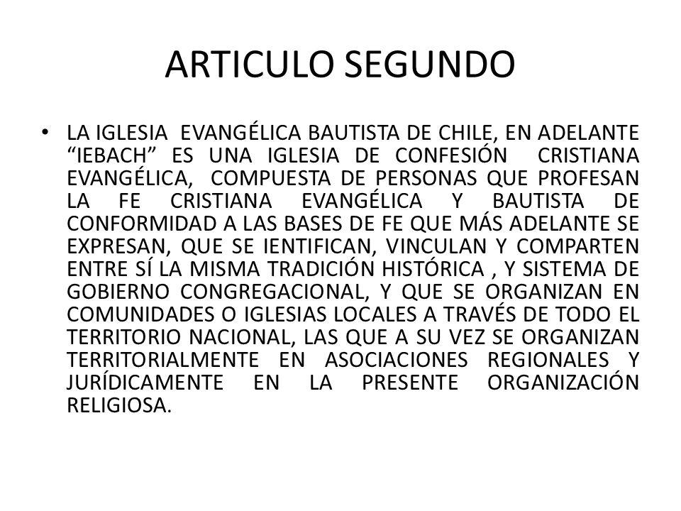 ARTICULO SEGUNDO