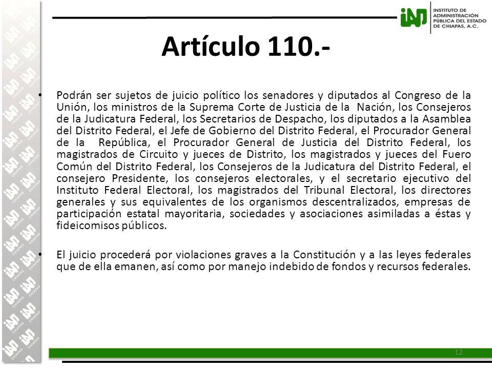Artículo 110.-