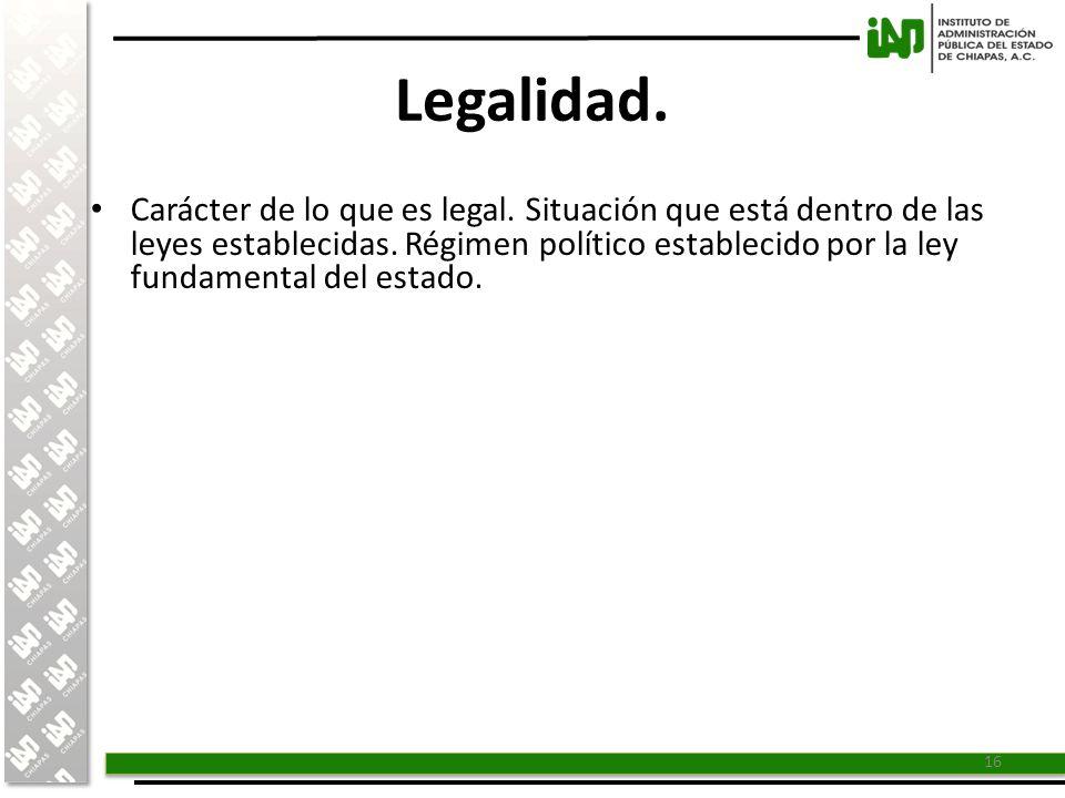 Legalidad.