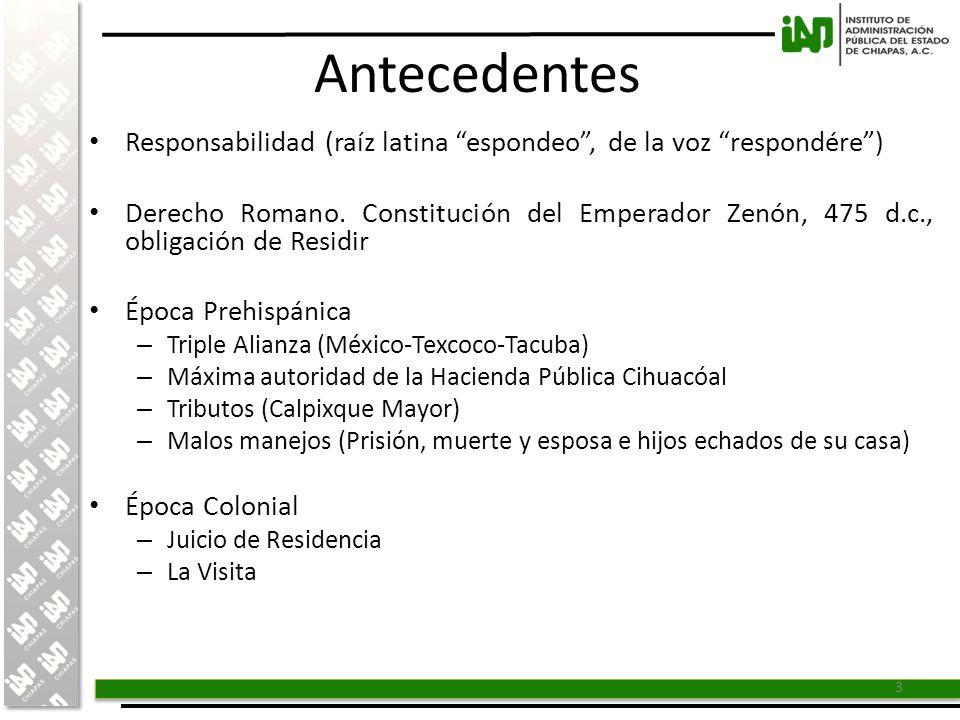 Antecedentes Responsabilidad (raíz latina espondeo , de la voz respondére )