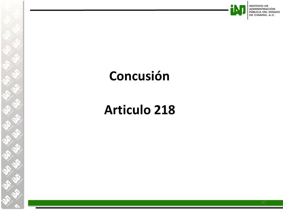 Concusión Articulo 218