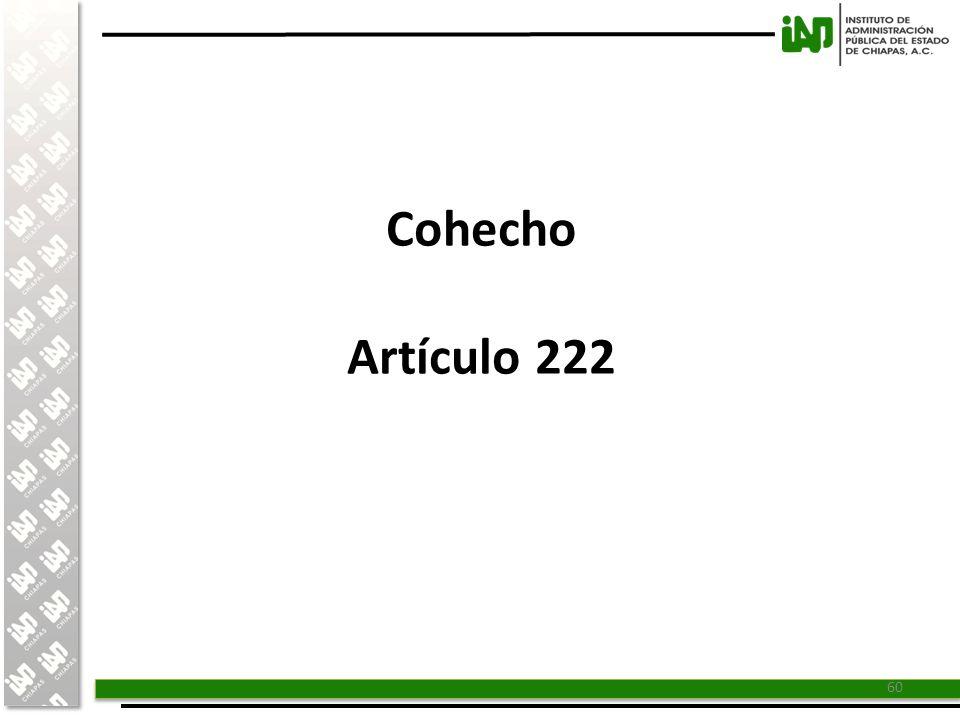 Cohecho Artículo 222