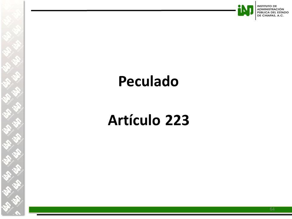 Peculado Artículo 223