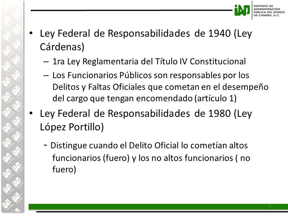 Ley Federal de Responsabilidades de 1940 (Ley Cárdenas)
