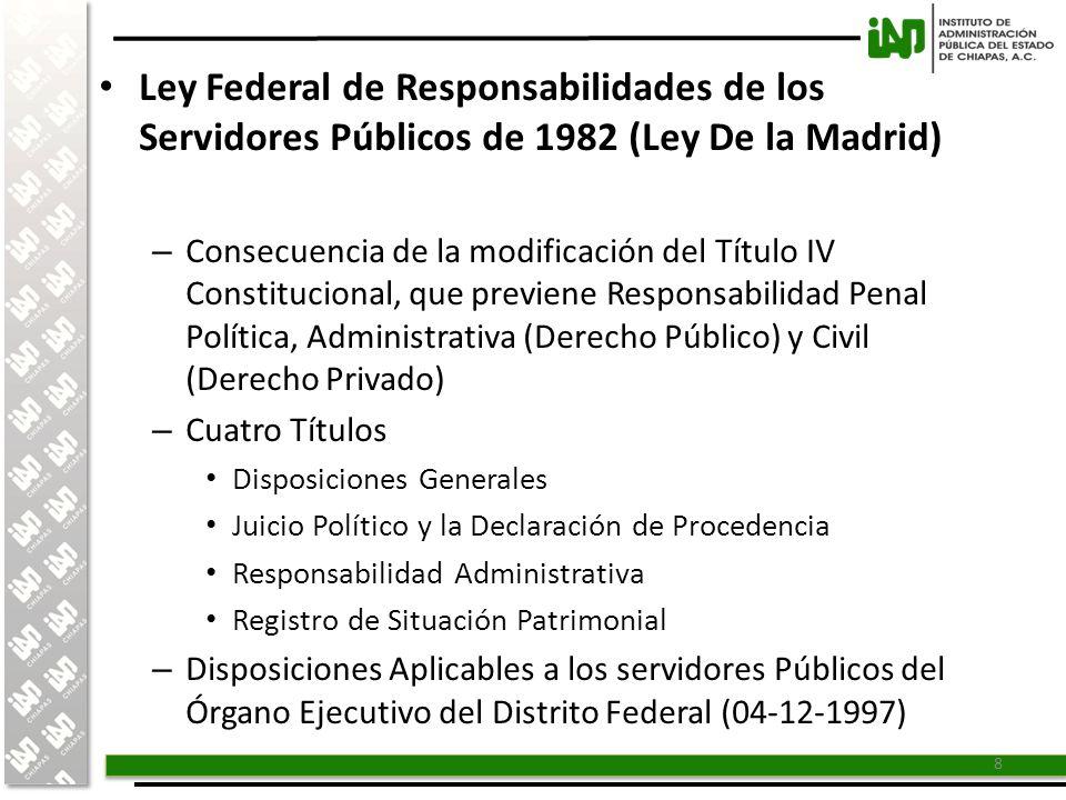 Ley Federal de Responsabilidades de los Servidores Públicos de 1982 (Ley De la Madrid)