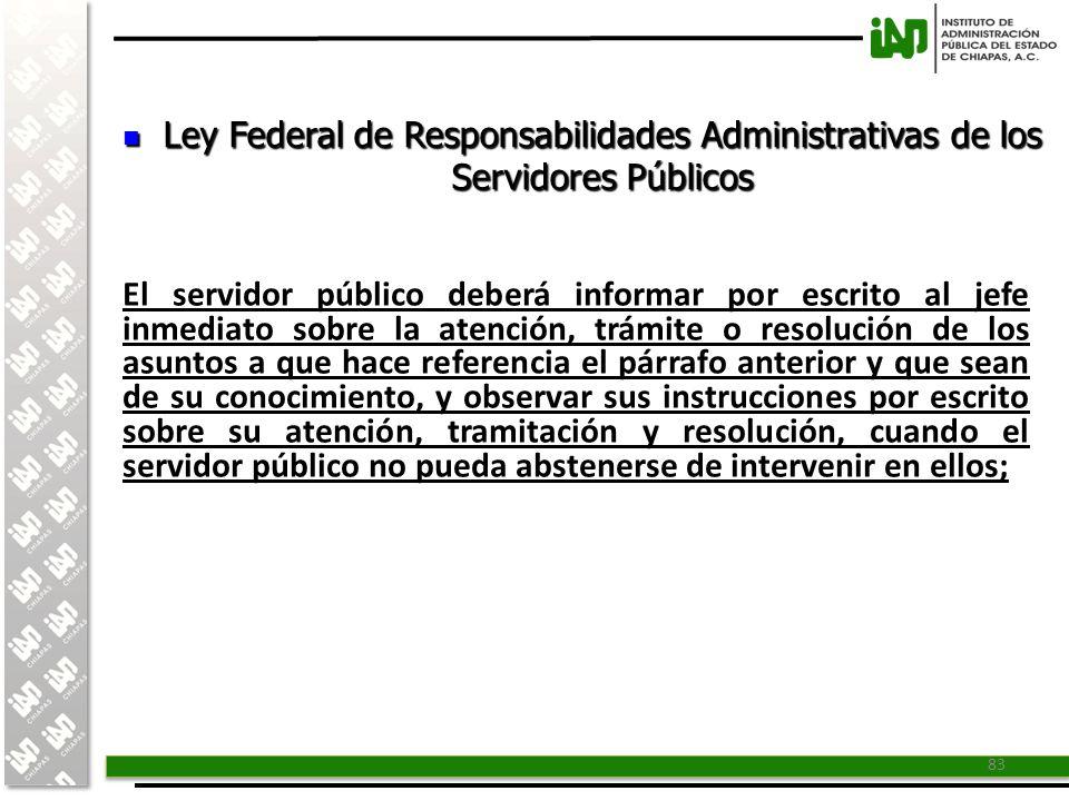 Ley Federal de Responsabilidades Administrativas de los Servidores Públicos