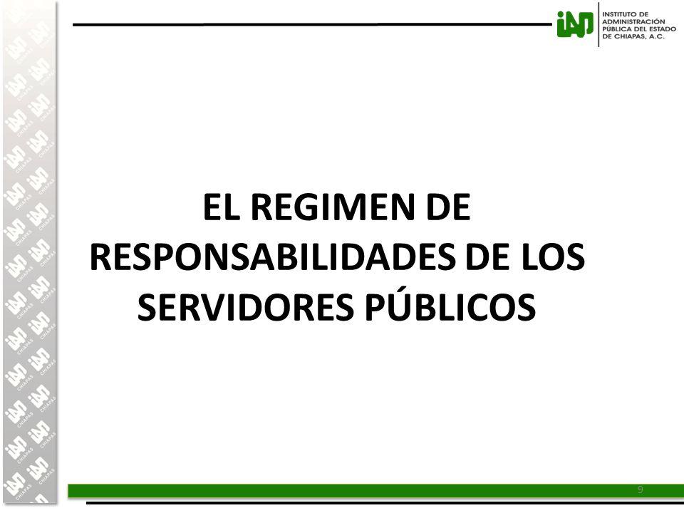 EL REGIMEN DE RESPONSABILIDADES DE LOS SERVIDORES PÚBLICOS
