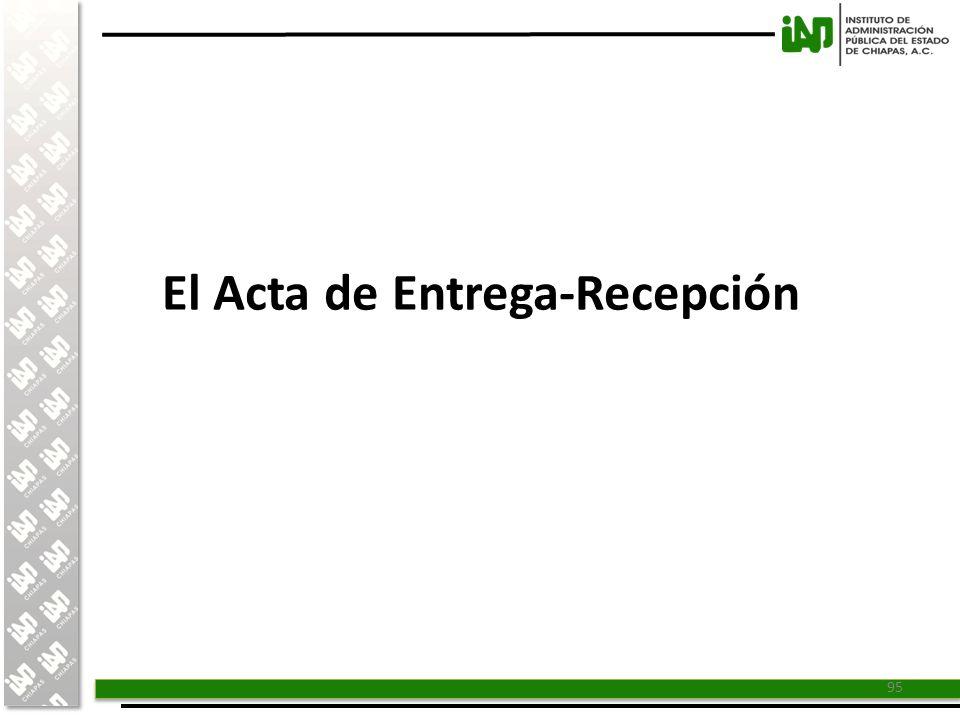 El Acta de Entrega-Recepción