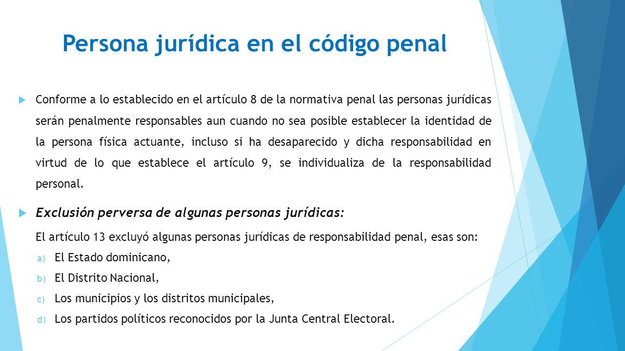 Persona jurídica en el código penal