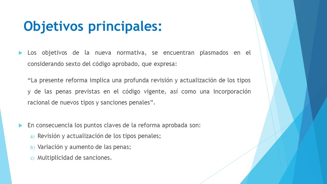 Objetivos principales:
