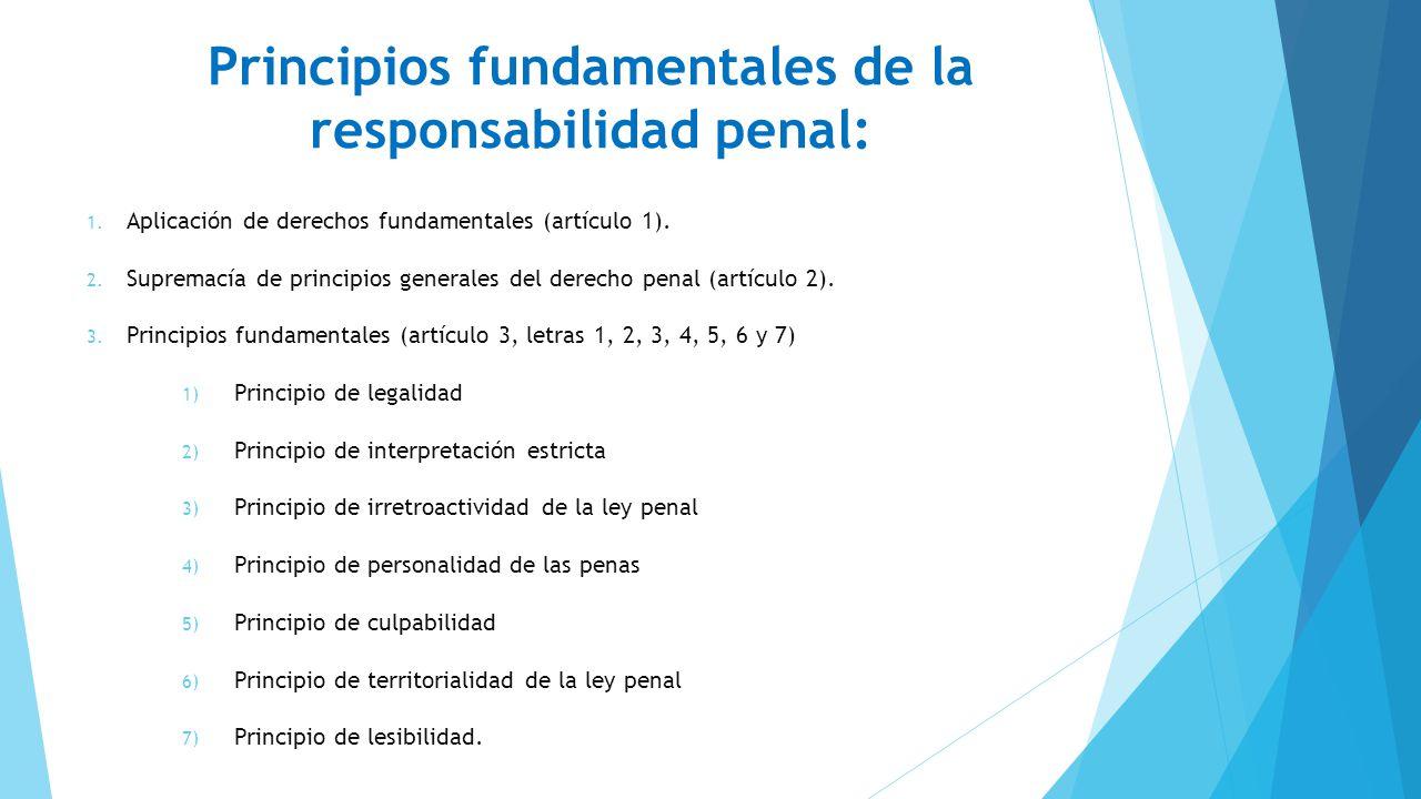 Principios fundamentales de la responsabilidad penal: