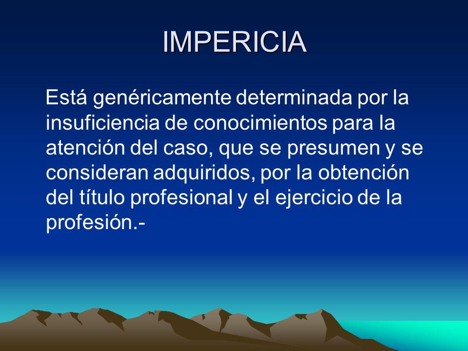 IMPERICIA