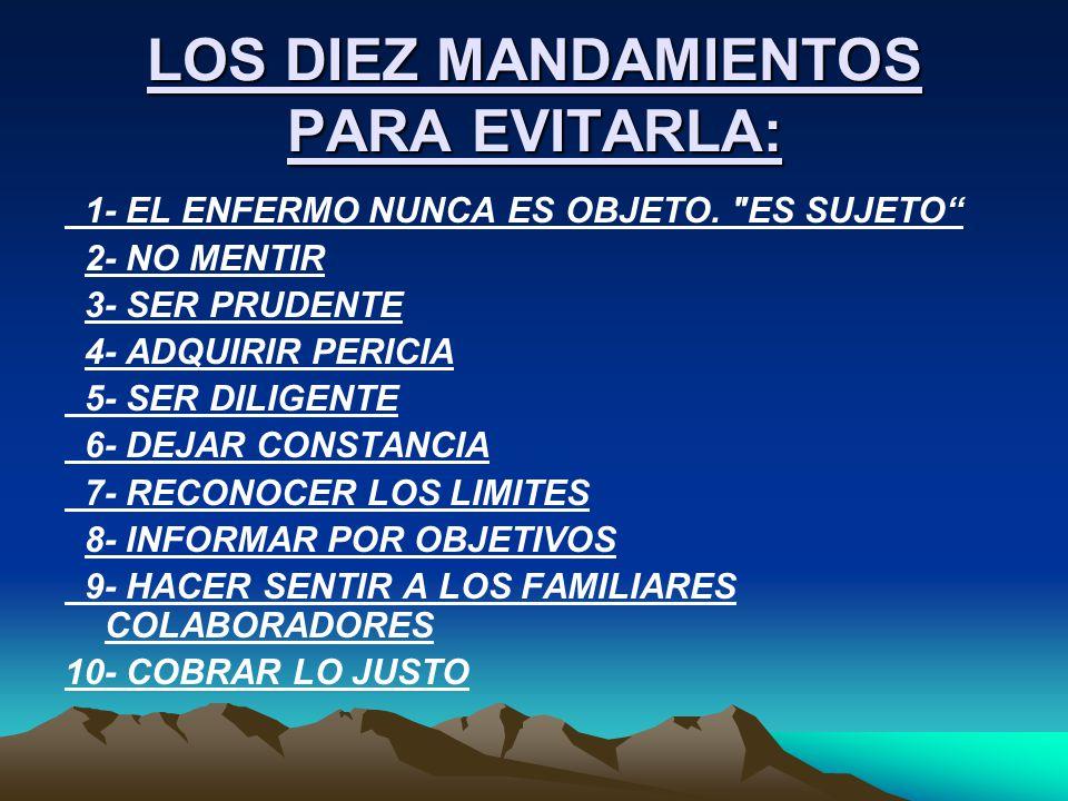 LOS DIEZ MANDAMIENTOS PARA EVITARLA: