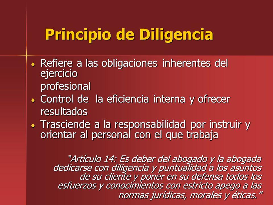 Principio de Diligencia