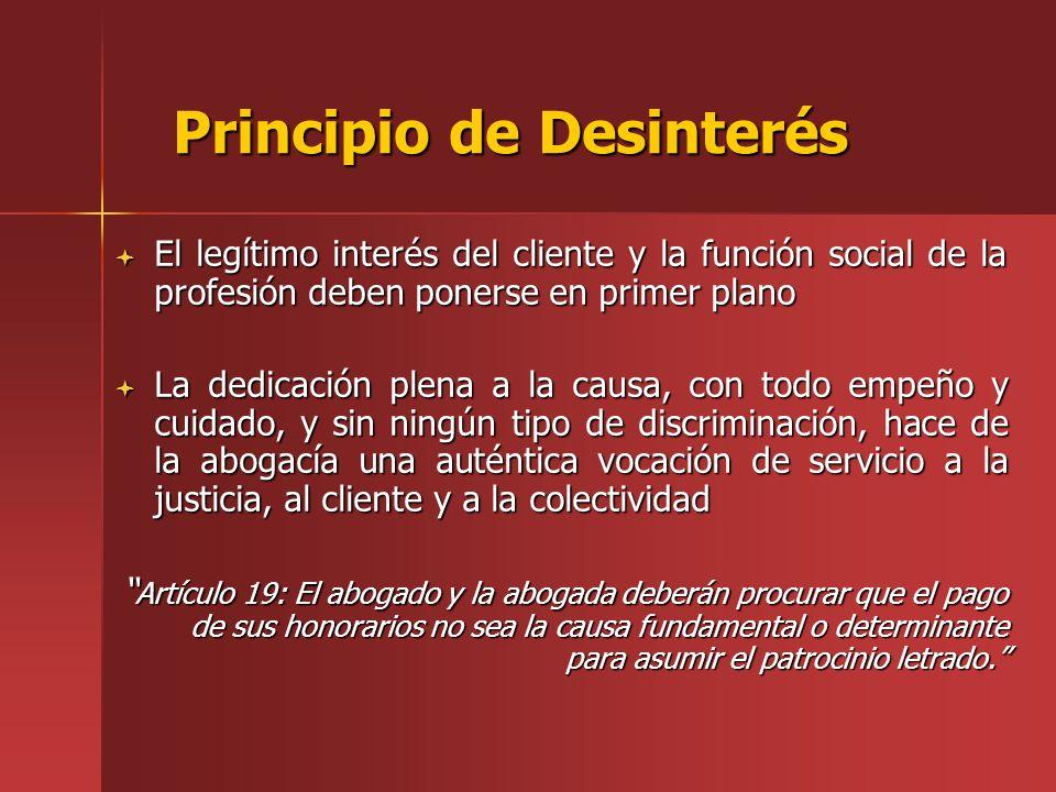 Principio de Desinterés