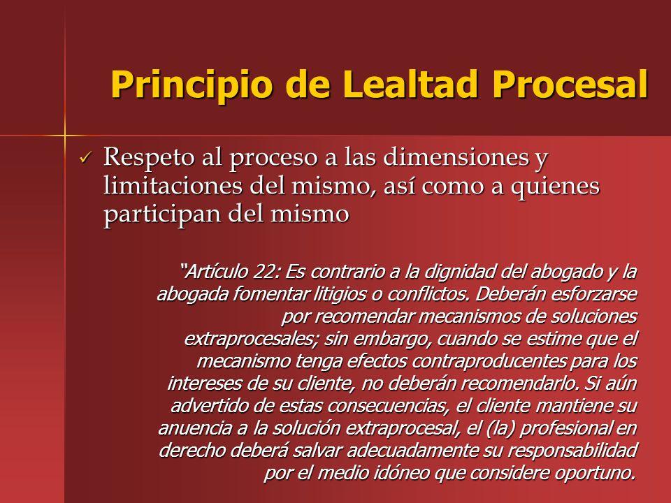 Principio de Lealtad Procesal