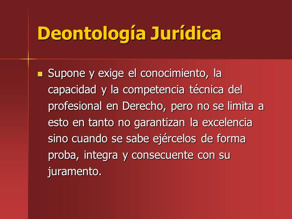 Deontología Jurídica