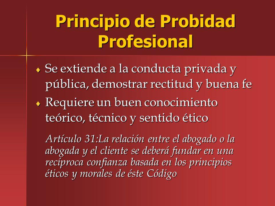 Principio de Probidad Profesional
