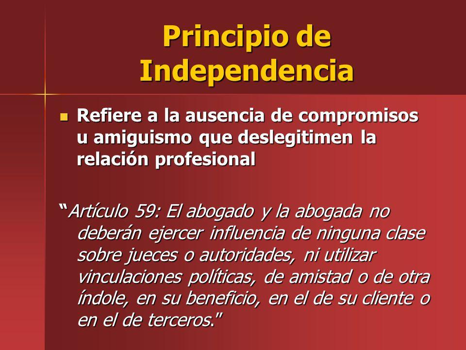 Principio de Independencia