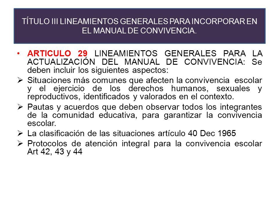 La clasificación de las situaciones artículo 40 Dec 1965