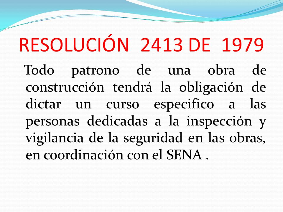 RESOLUCIÓN 2413 DE 1979