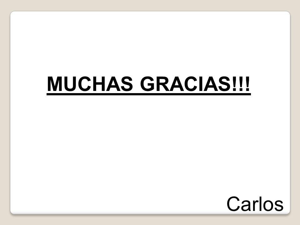 MUCHAS GRACIAS!!! Carlos