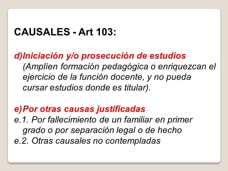 CAUSALES - Art 103: