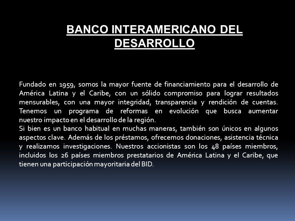 BANCO INTERAMERICANO DEL DESARROLLO
