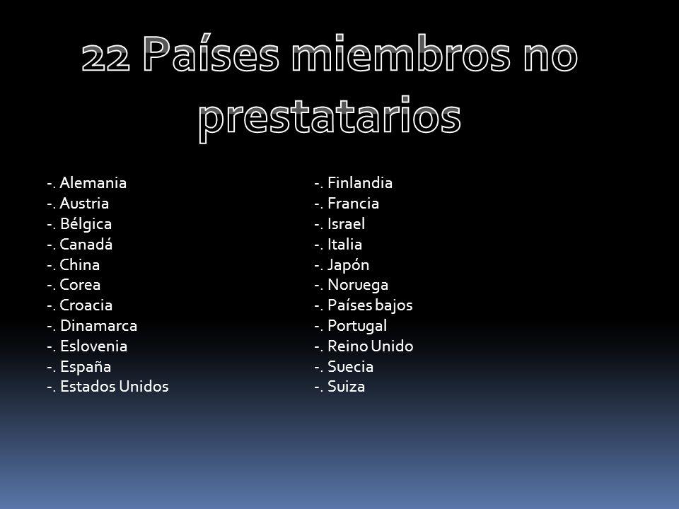 22 Países miembros no prestatarios