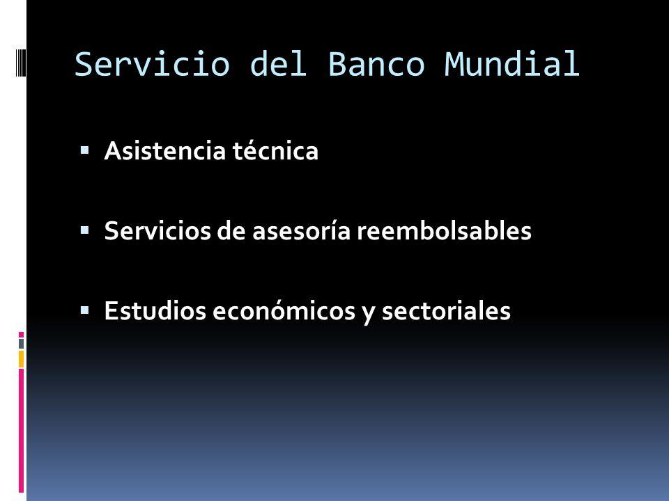 Servicio del Banco Mundial