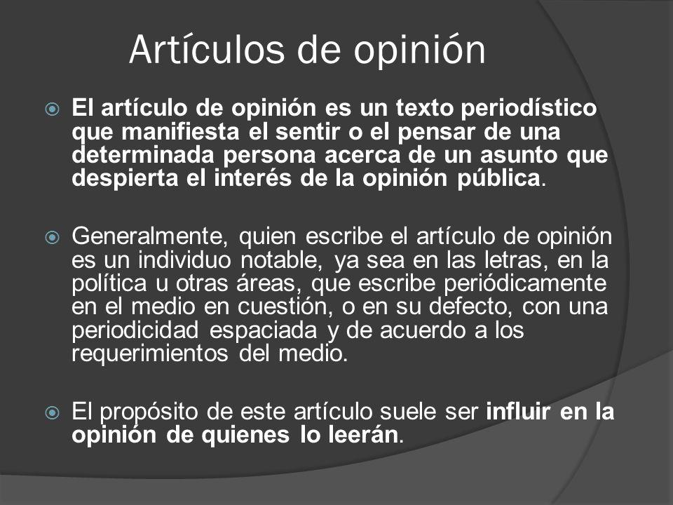 Artículos de opinión