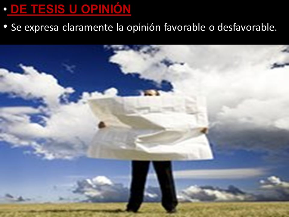 Se expresa claramente la opinión favorable o desfavorable.