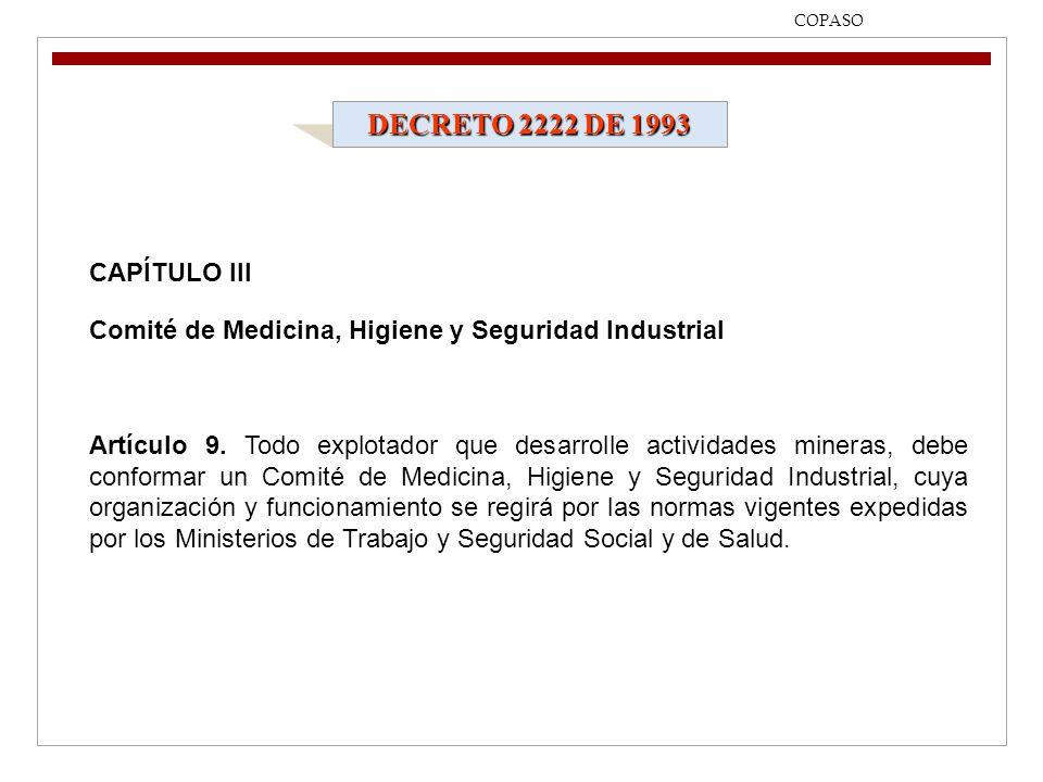 DECRETO 2222 DE 1993 CAPÍTULO III