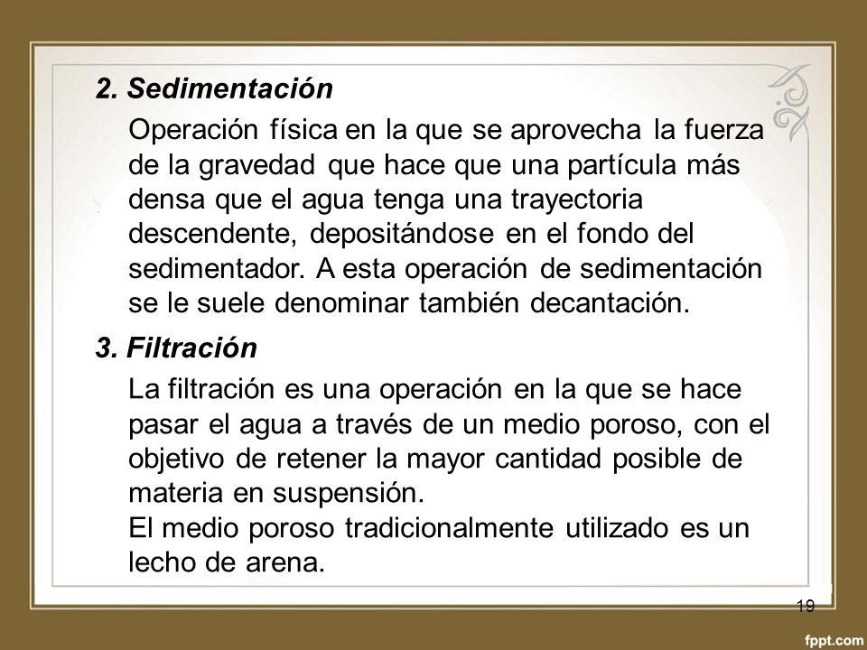 2. Sedimentación